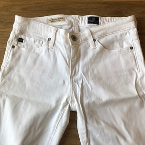 Ag Adriano Goldschmied Jeans - AG Adriano Goldschmied Stevie Ankle White Jeans
